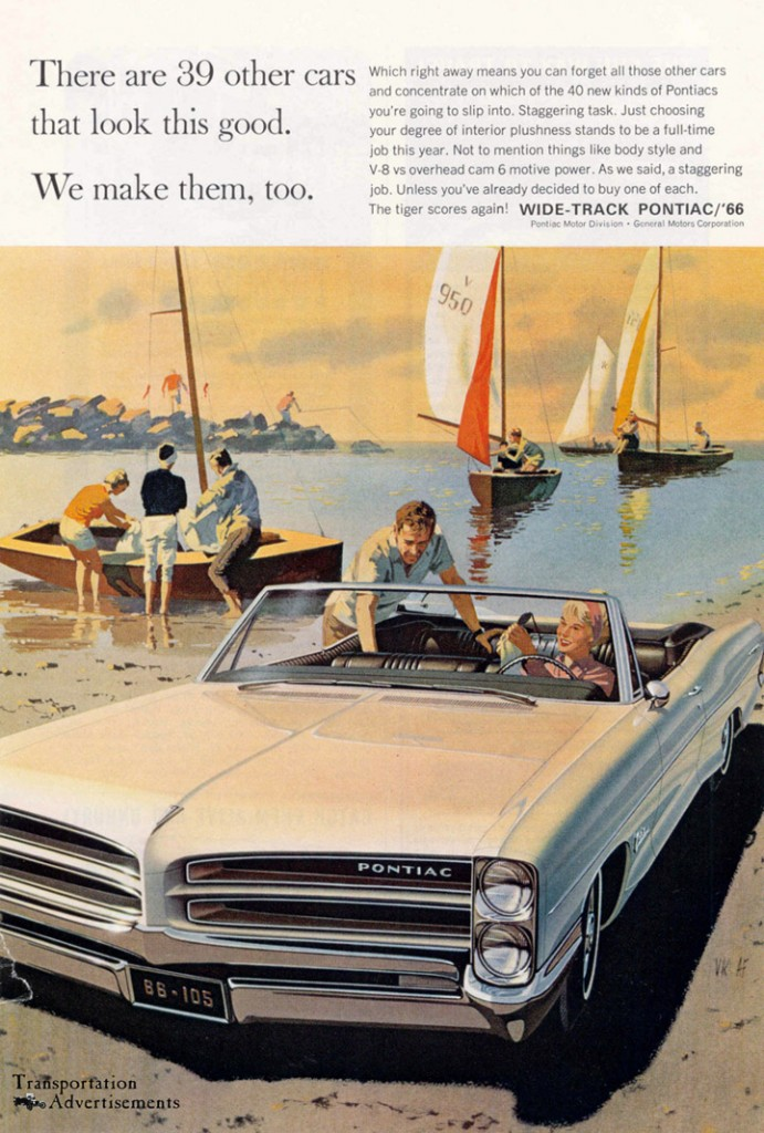 1966 Pontiac Wide Track Advertisement