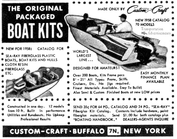 958 Custom Craft Boat Advertisement