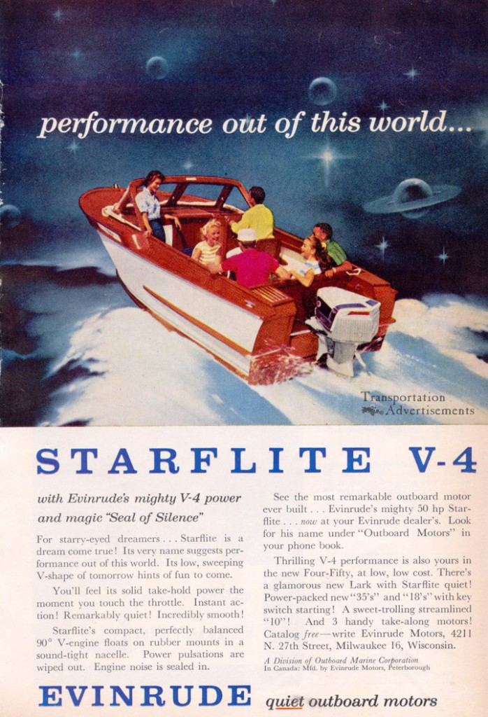 1958 Evinrude Starflight V-4 Advertisement