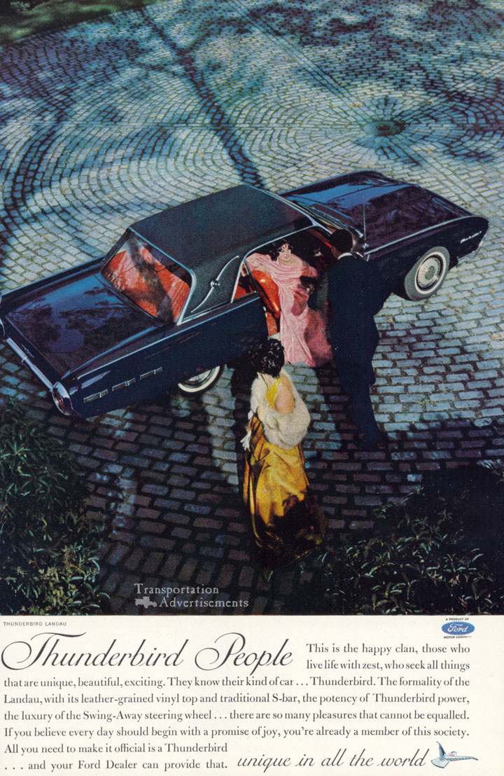1962 Ford Thunderbird Advertisement