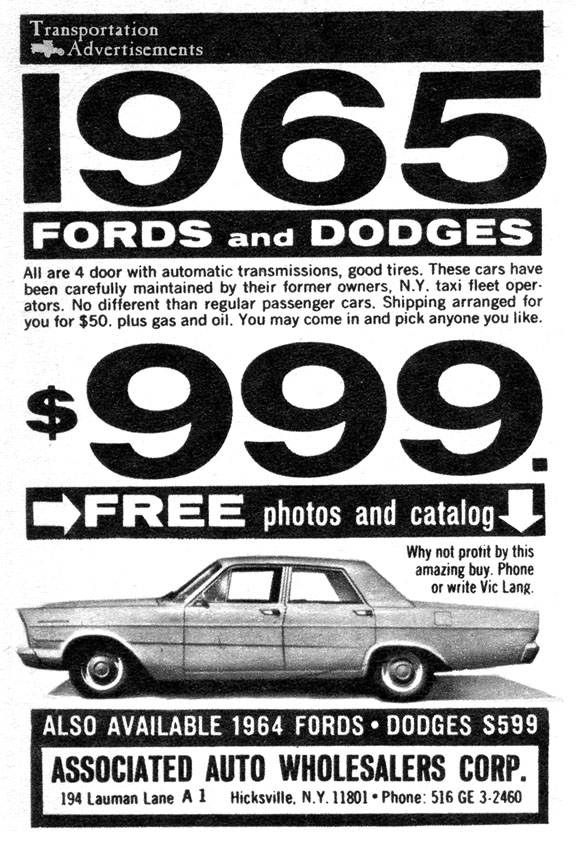 1966 Associated Auto Wholesalers Corp