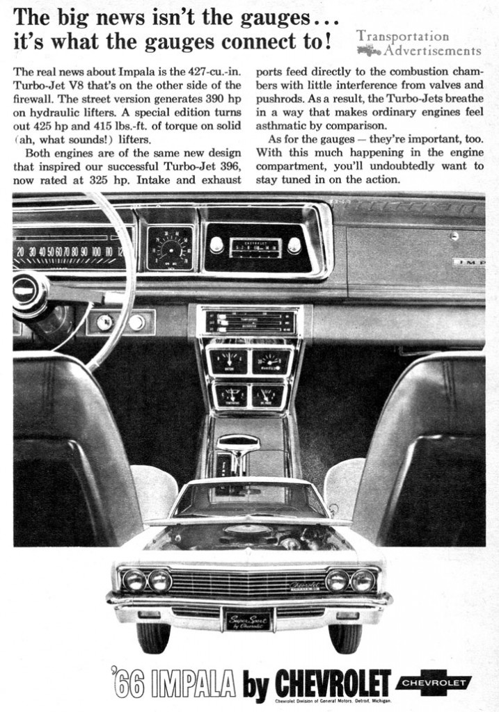 1966 Chevy Impala Advertisement