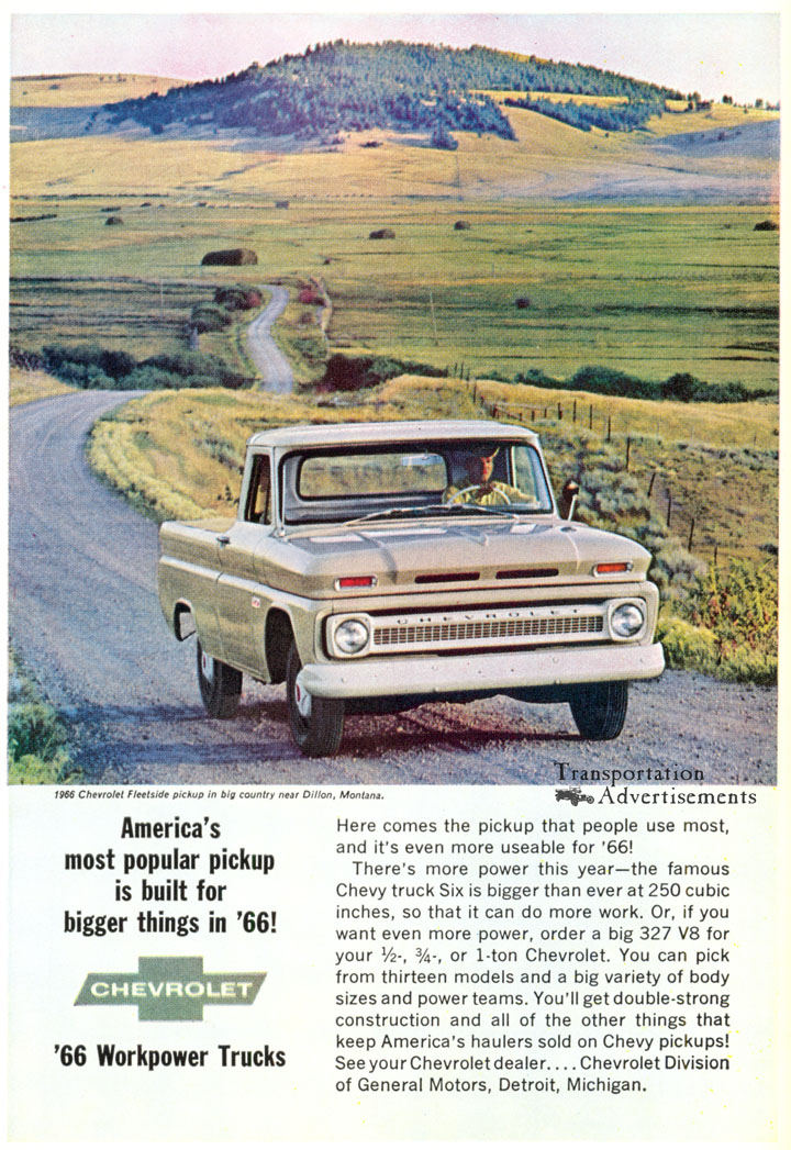 1966 Chevrolet Truck advertisement