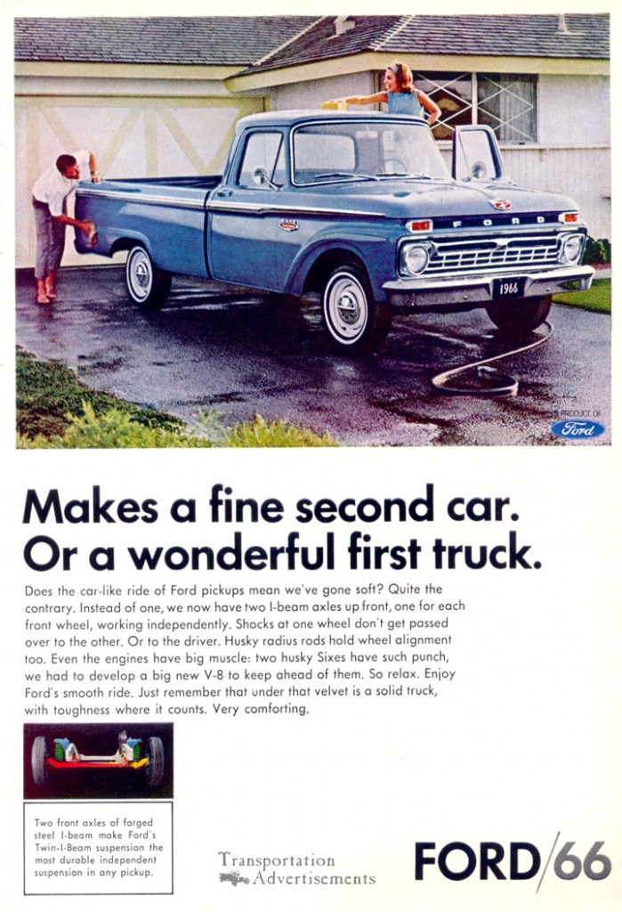 1966 Ford truck advertisement