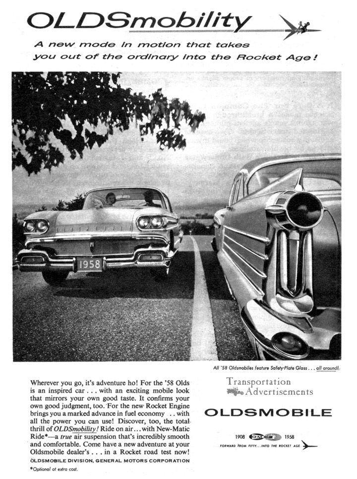 1958 Oldsmobile Advertisement