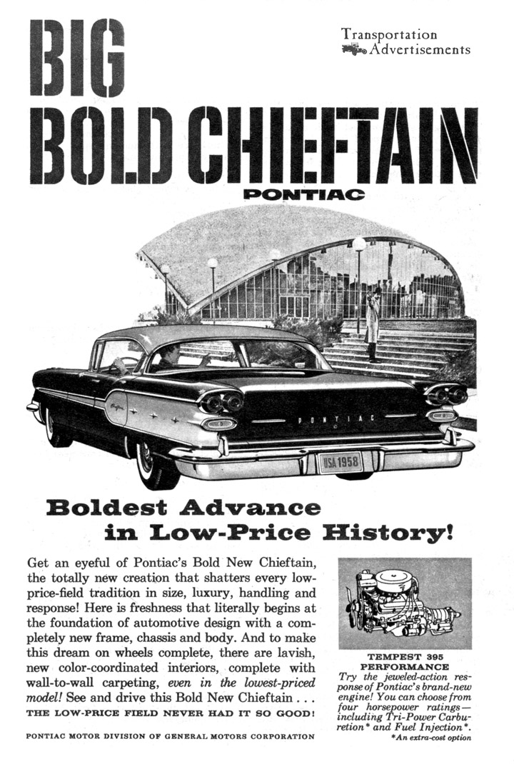 1958 Pontiac Chieftain advertisement