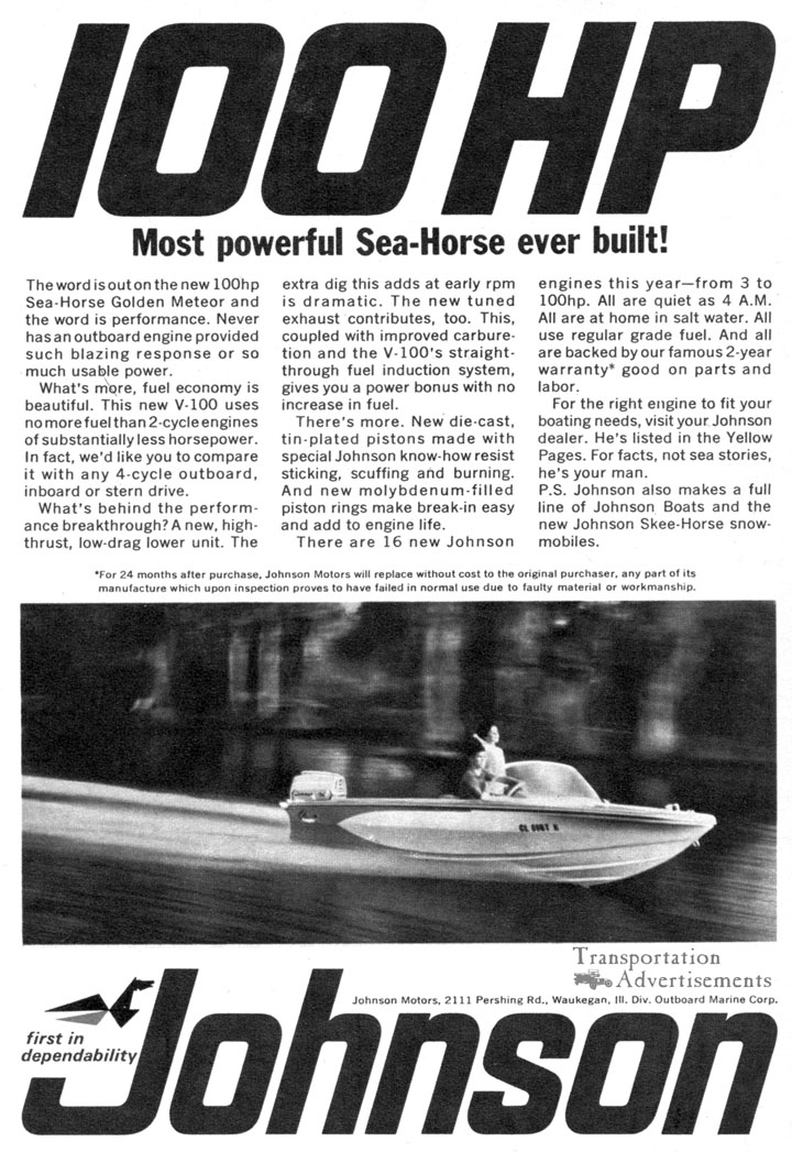 1966 Johnson Outboard Advertisement