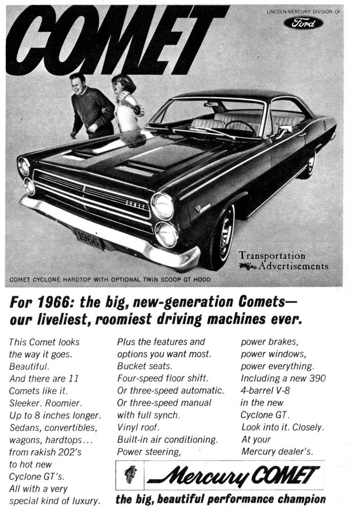 1966 Mercury Comet Advertisement