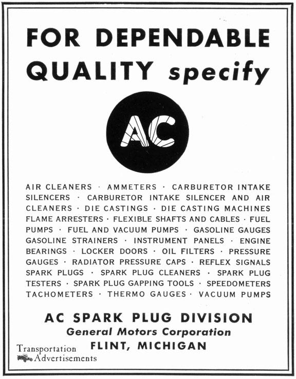 1939 AC advertisement