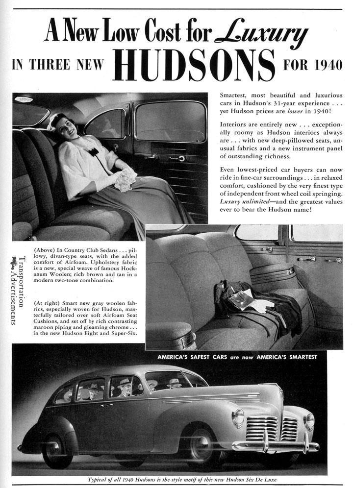 1940 Hudson advertisement