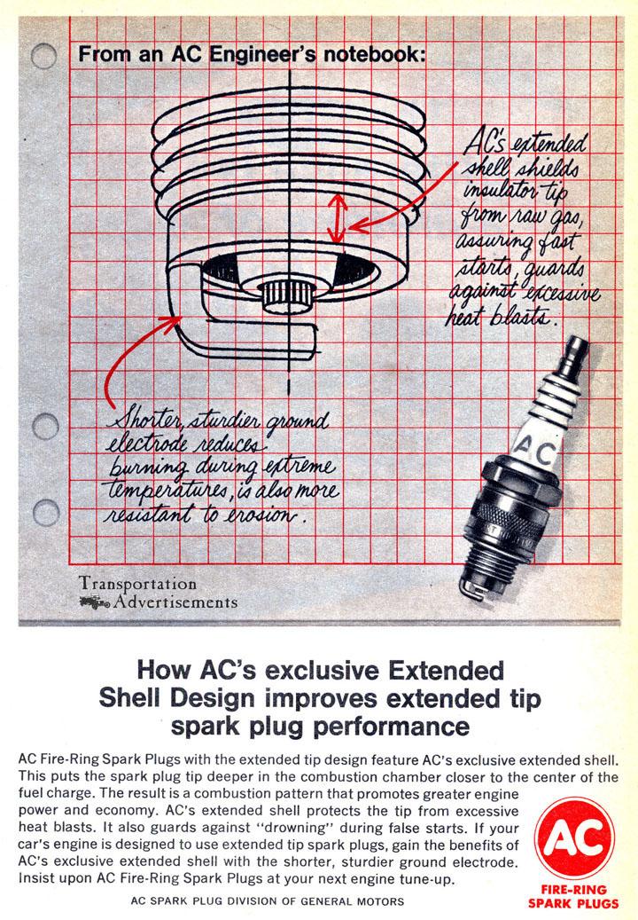 1966 AC Spark Plugs advertisement