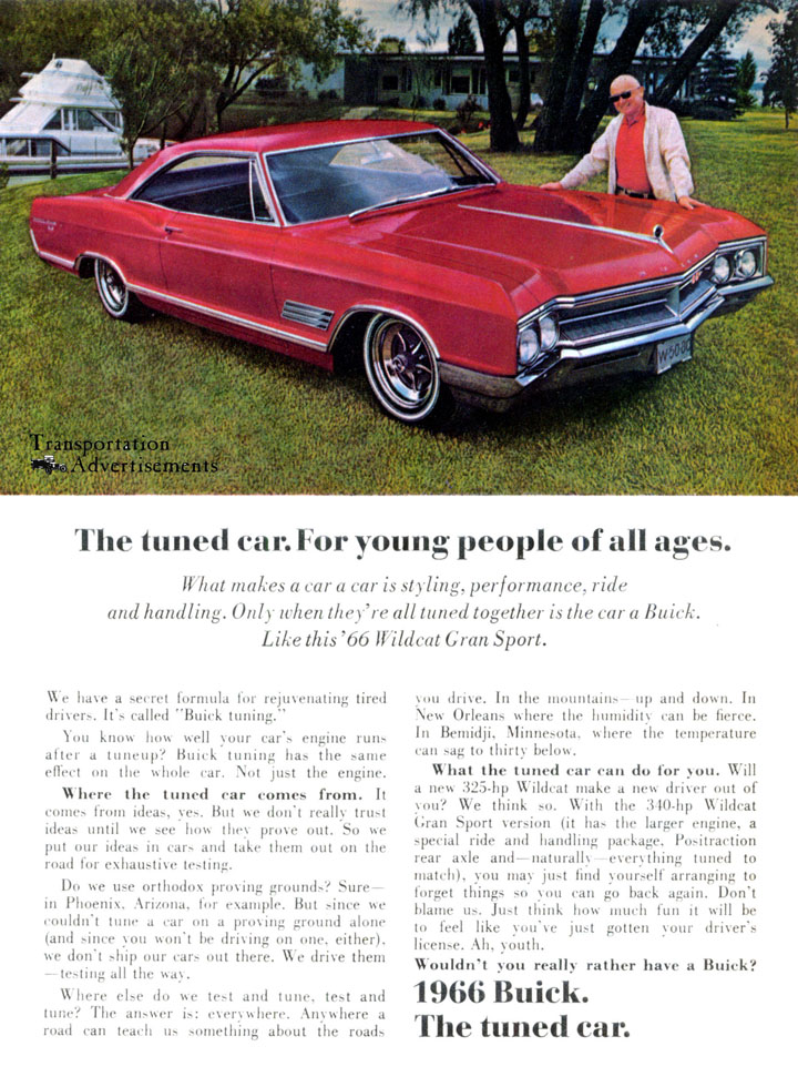 1966 Buick Wildcat Gran Sport advertisement