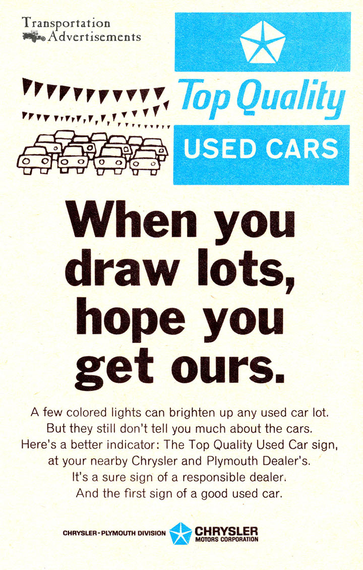advertisement of cars