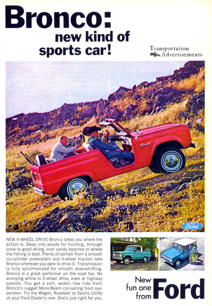 1966 Ford Bronco advertisement