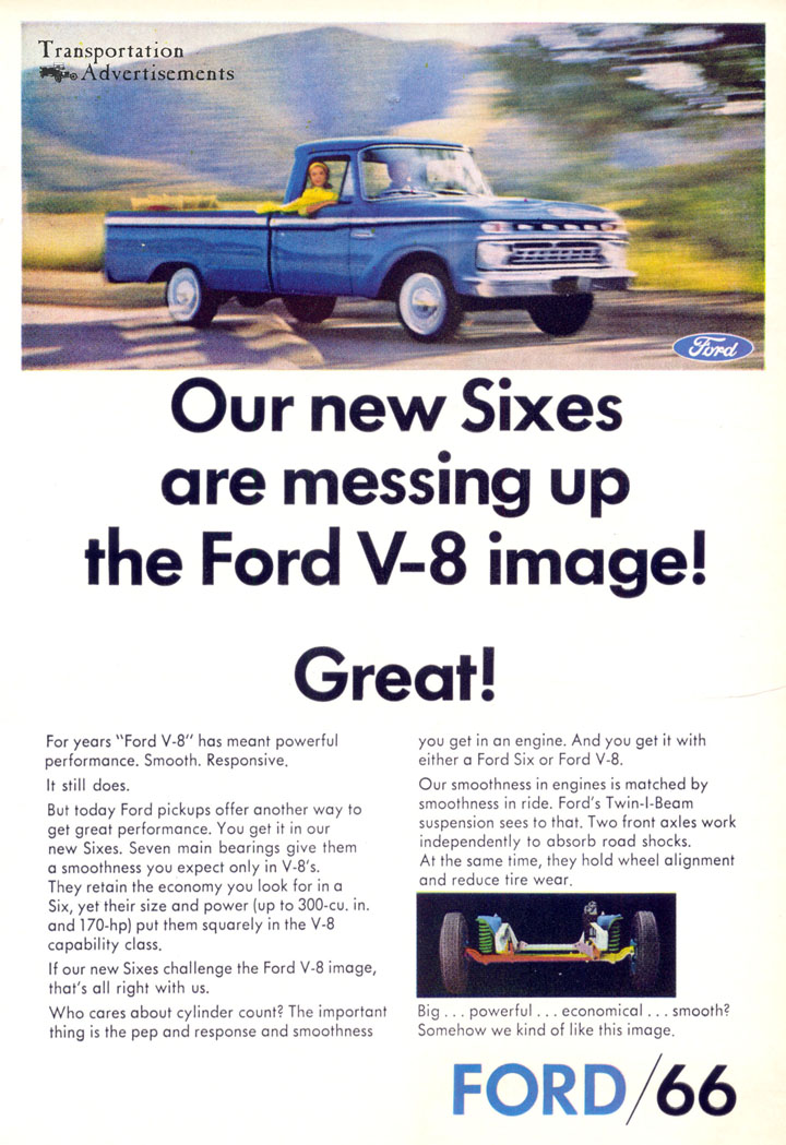 1966 Ford Trucks Six Cylinder advertisement