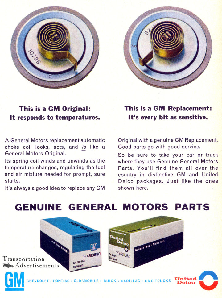 1966 Genuine General Motors Parts advertisement
