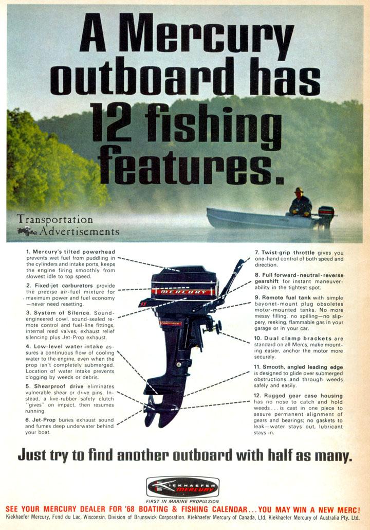 1968 Mercury Outboard advertisement