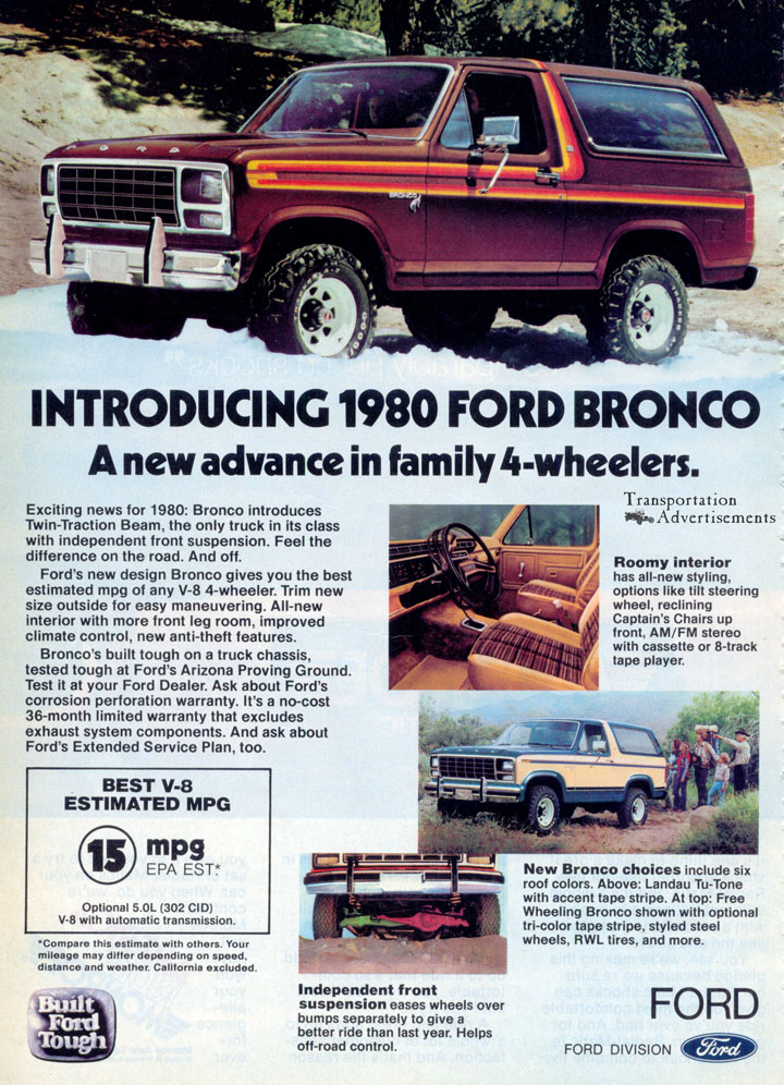 1980 Ford Bronco advertisement