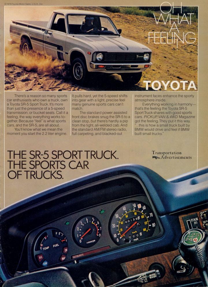 1980 Toyota SR-5 Sport Truck advertisement