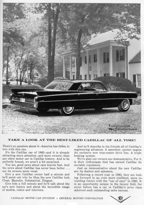 1963 Cadillac advertisement