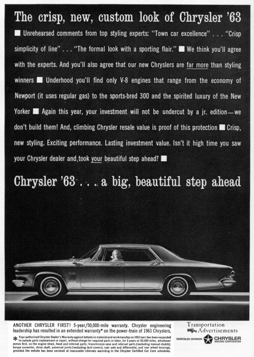 1963 Chrysler advertisement