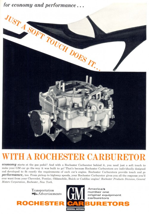 1963 Rochester Carburetors Advertisement