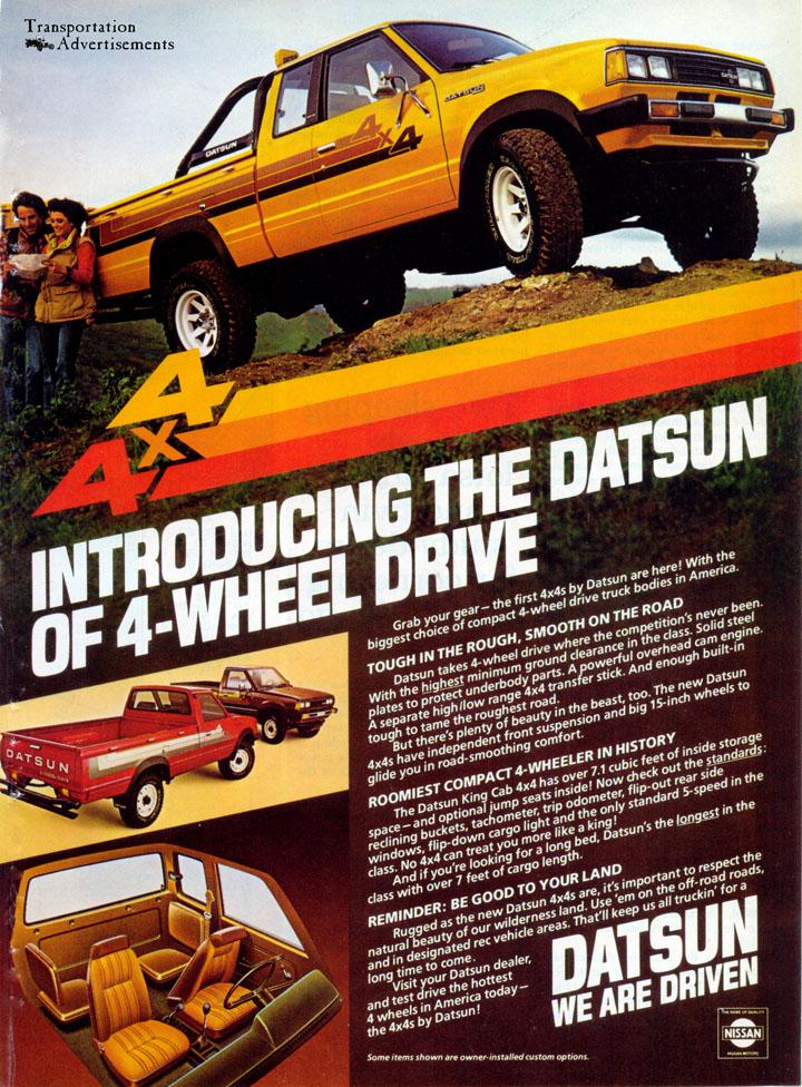 1980 Datsun Truck advertisement