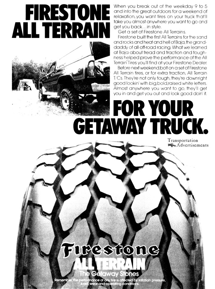 1980 Firestone All Terrain Tires