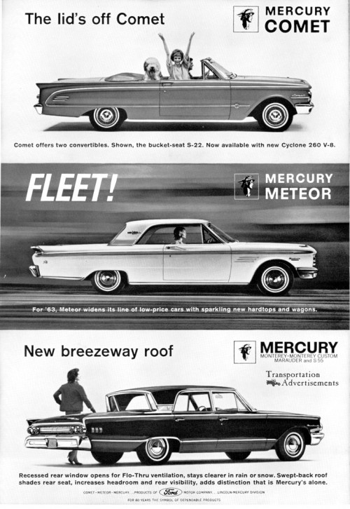 1963 Mercury advertisement