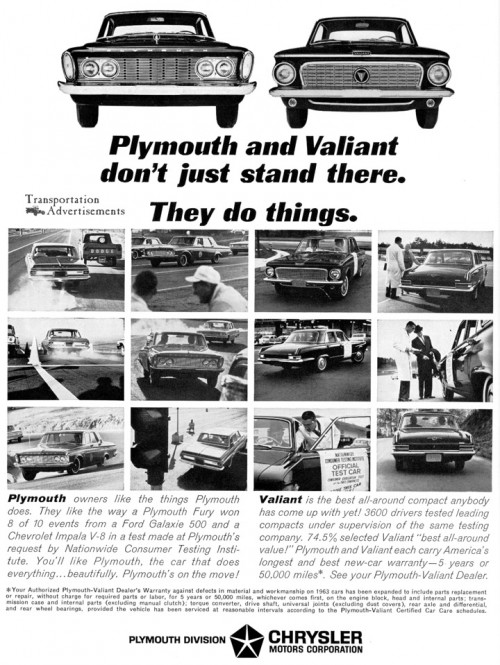 1963 Plymouth Valiant advertisement