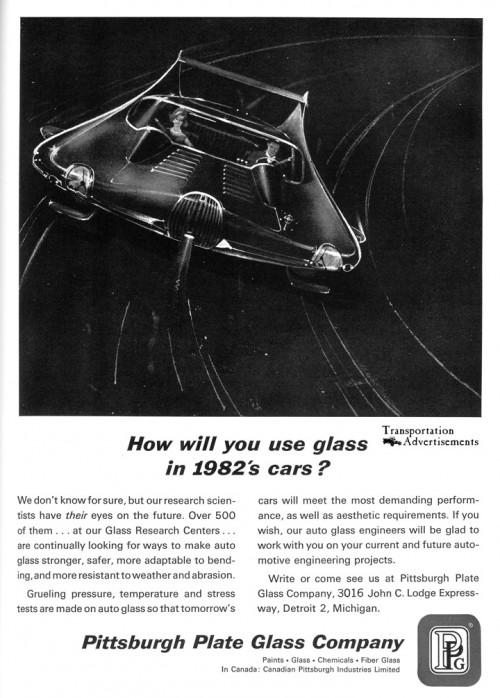 1963 Pittsburgh Plate Glass (PPG) advertisement