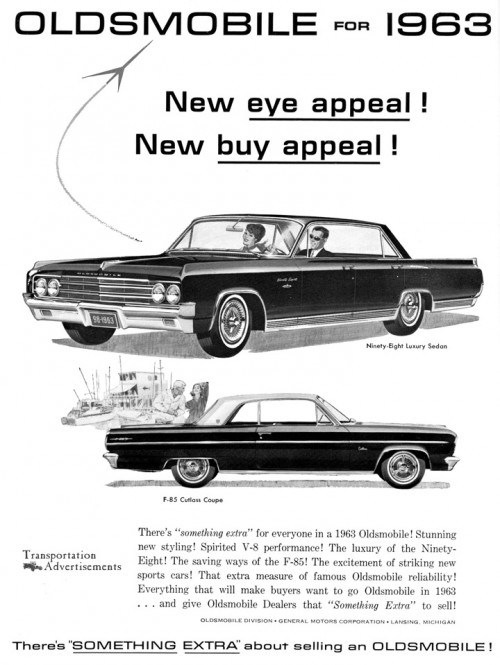 1963 Oldsmobile advertisement