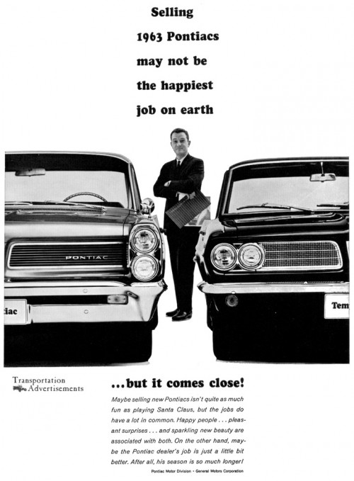 1963 Pontiacs advertisement