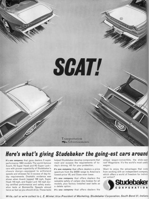 1963 Studebaker Advertisement