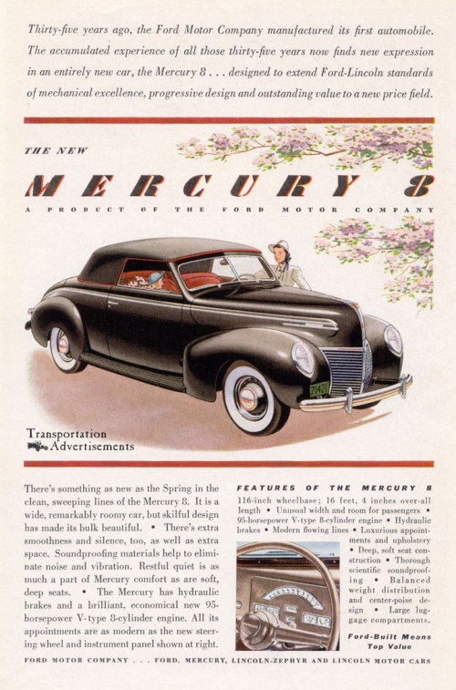 1940s Mercury Eight advertisement
