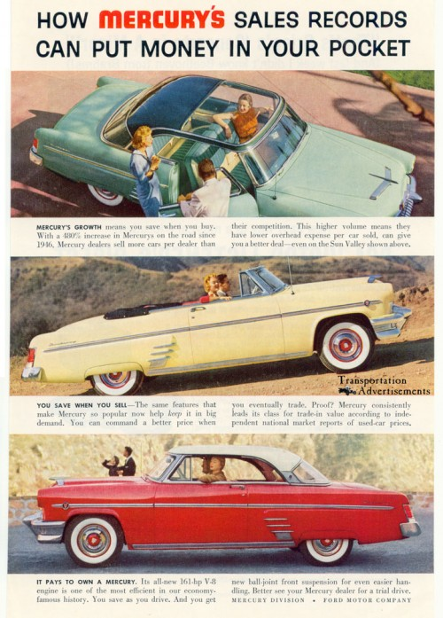 1950s Mercury Sun Valley ad