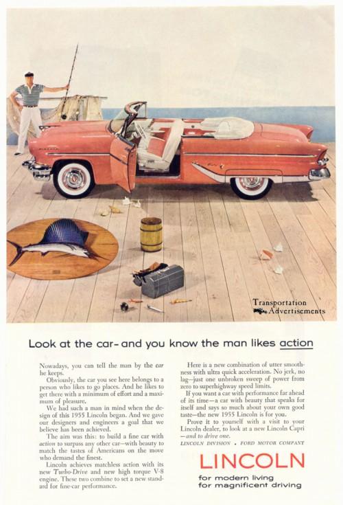 1955 Lincoln Capri ad
