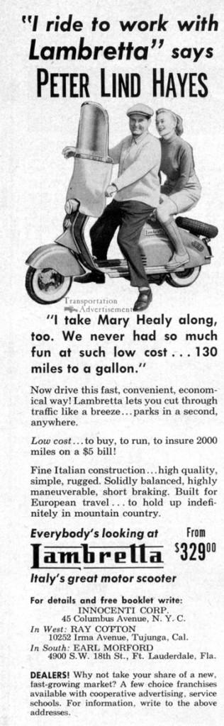 1973 Lambretta Motor Scooter ad