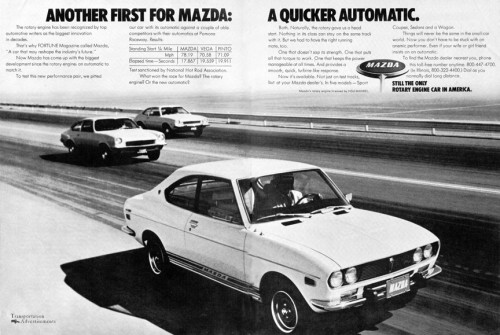 1973 Mazda Rotary Engine ad