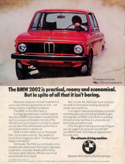1975 BMW 202 ad